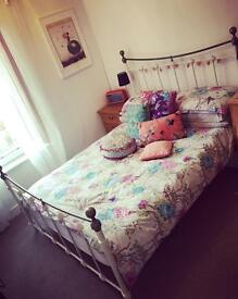 Wrought iron double metal bed frame with Matress