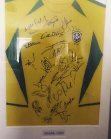 Brazil Signed 2002 World Cup Shirt