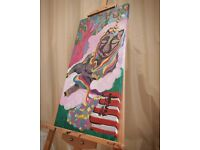 Moving Sale 50% off Qurantinecorn' Acrylic Painting