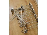 12 x Silver/Chrome Slatwall Hooks Retail display fitting/industrial shop product hangers