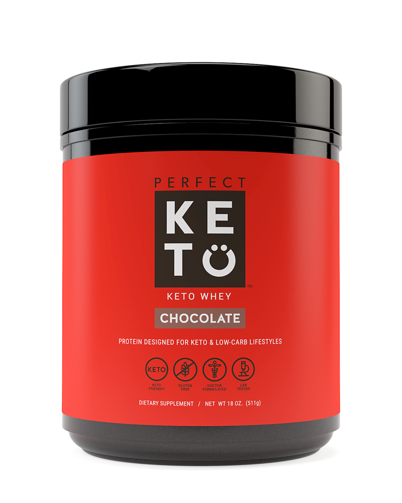 Perfect Keto Chocolate Whey Protein Powder Isolate W/ MCT Po