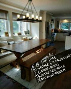 Custom handmade distressed tables only 2 March build spaces left TAX FREE