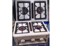 PORTABLE GAS COOKER WITH GRILL CAMPING / CARAVAN