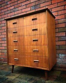 Mid century modern Danish drawers vintage retro