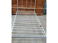 Home Charlie Single Metal Bed Frame - Silver No120415