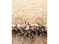 Wedding business / flower back drop / flower wall for sale £1000
