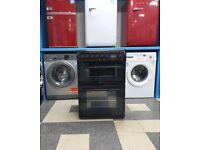wd5159 black hotpoint 60cm double oven ceramic electric cooker with warranty can be delivered