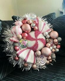 Handmade wreath.