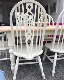 6ft farmhouse table and chairs