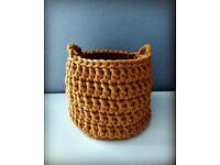 Crochet baskets handmade