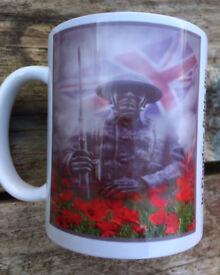 Poppy Day Tribute Mug - Armed Services - Flanders Field -