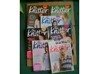 7 ISSUES THE KNITTER - KNITTING MAGAZINES - JOB LOT
