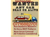 Scrap cars bought for cash