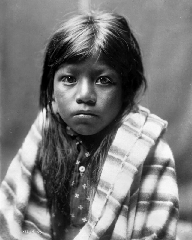 New 8x10 Native American Photo: Ah Chee Lo, North American Indian Child - 1905