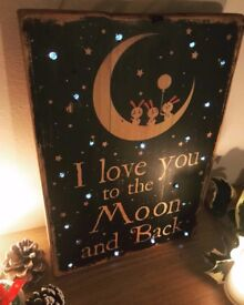 Handmade Personalised Light Up Wooden Sign!