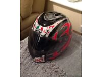 AGV motorbike helmet - Size Large - Hardly worn - In very good condition.