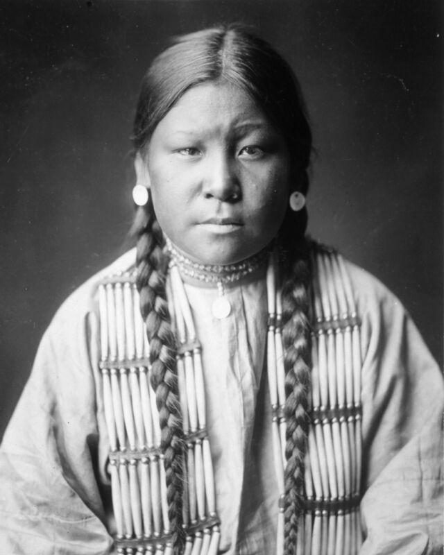 New 8x10 Native American Photo: Cheyenne Girl - North American Indian ca. 1905