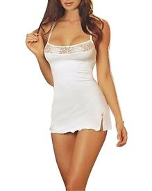 Womens Spaghetti Strap Lingerie Lace Dress