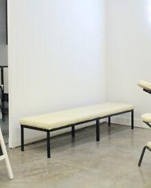 FREE Large Handmade Metal Frame Bench - comfortable seating!
