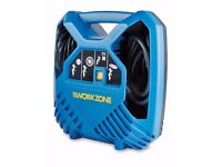 Workzone 8-Bar Portable Mobile Air Compressor. Ideal Bike Car Tyre Inflator Pump. AS-NEW + WARRANTY!