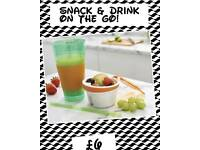 Snack & drink on the go snack pot