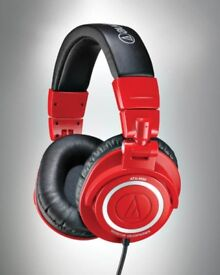 Audio-technica M50R Red limited edition headphones