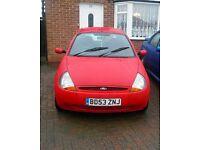 Cheap run around red Ford KA £350 ono, long MOT