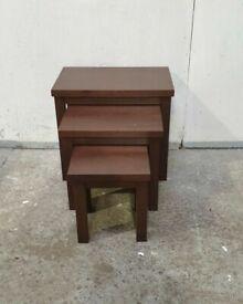 Gloucester Nest of 3 Wooden Tables -Walnut Effect No020403
