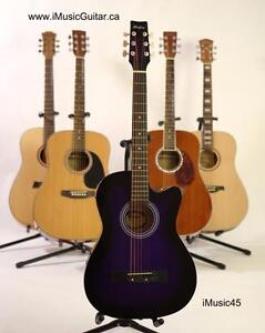 Purple Acoustic guitar for beginners iMusic45 brand new