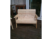 COLONIAL STYLE GARDEN BENCH HAND BUILT