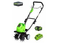 Greenworks Cordless 40V Mini Tiller (Rotovator Rotavator Cultivator) AS NEW + WARRANTY! RRP £280!