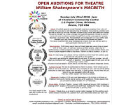Auditions - William Shakespeares Macbeth
