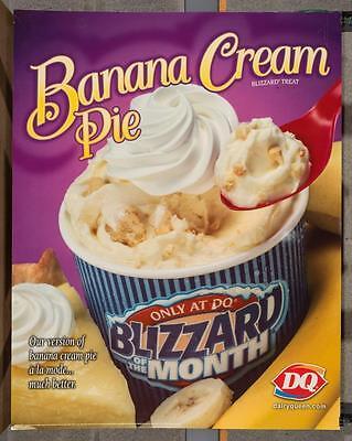 Dairy Queen Promotional Poster Banana Cream Pie Blizzard dq2