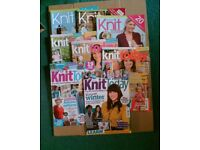 8 ISSUES KNIT TODAY - KNITTING MAGAZINES - JOB LOT