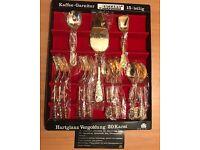 15 Piece desert 20 Carat gold plated cutlery
