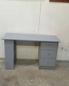 Malibu 3 Drawer Office Desk - Grey No020407