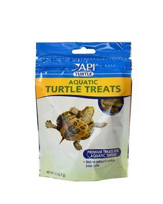 (API Aquatic Turtle Treats 2oz special recipe with shrimp see your turtle feed)