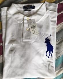Ralph Lauren Polo Short Sleeve Shirt white / Large Pony