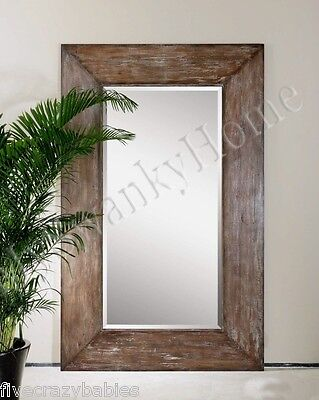 Extra Large Wall Mirror Oversize Rustic Wood HORCHOW Full Le