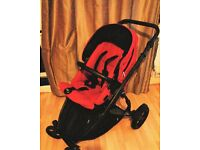 Britax B-Dual Pushchair (Chilli Pepper/ Red)