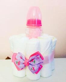 Mini Nappy cake baby girl!