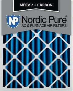 New, Opened Box Nordic Pure 16x25x4 MERV 7 Plus Carbon AC Furnace Air Filters, Quantity 1 (Pick-up Only) - PU5