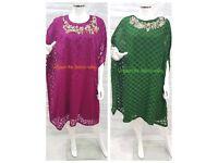 Pakistani designer shalwar kameez cape/gown