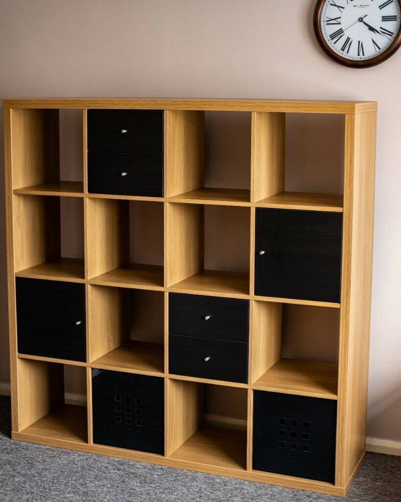 low priced 95738 2b63a IKEA KALLAX shelving units - OAK EFFECT | in Wrexham | Gumtree