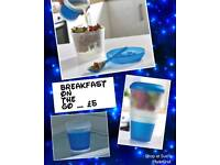 Breakfast On The Go snack pot container