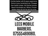 Barber. Come to your,destination