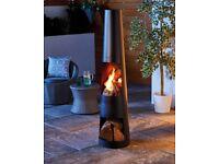 Round Stylish Steel Chimenea ✅ Patio Heater Wood/Log Burner