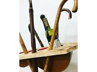 One off walking stick Wine rack