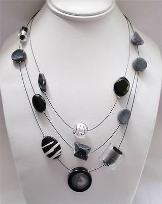 Chico's Thalia Illusion Necklace Modern Artistic Style Elements (Illusion Style Necklace)