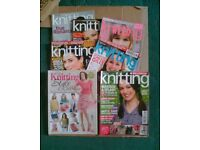 7 ISSUES KNITTING MAGAZINES - JOB LOT